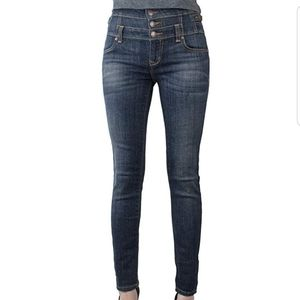 NWOT Eunina Button Front High Waist Skinny Jeans